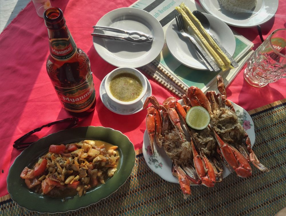blog voyage myanmar birmanie ngapali beach plage restaurant fruits de mer