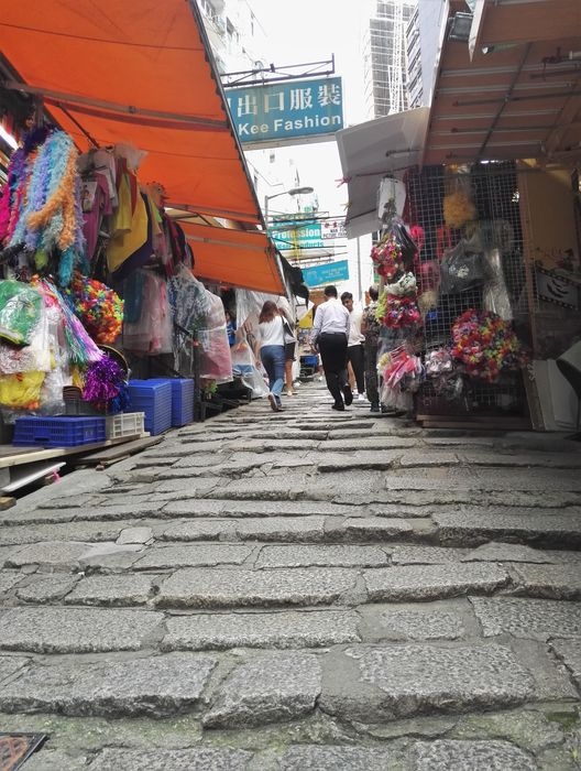 blog voyage hong kong central cobbled stone street