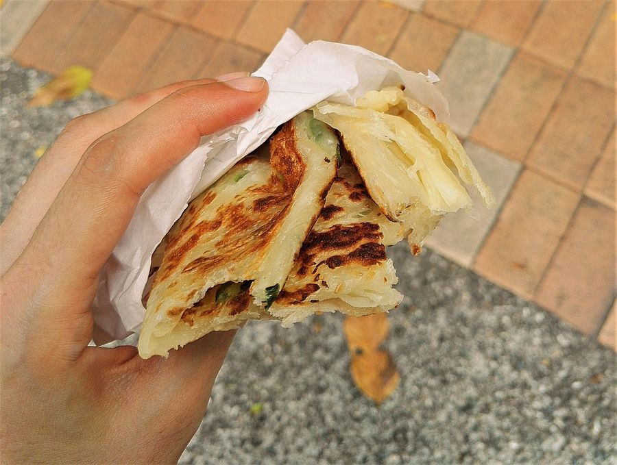 blog voyage taipei taiwan food pancake scallion