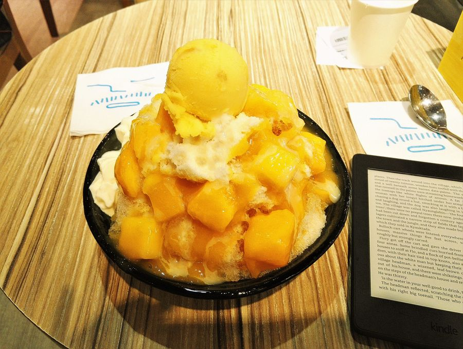blog voyage taipei taiwan food shaved ice mango