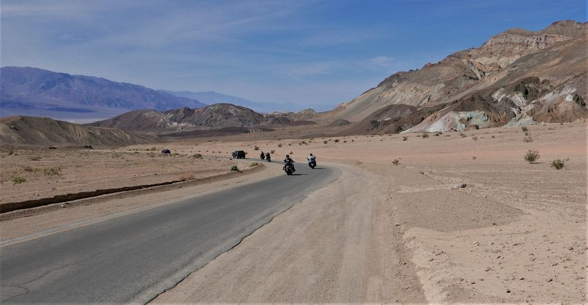 road trip de las vegas à los angeles death valley vallée de la mort bikers