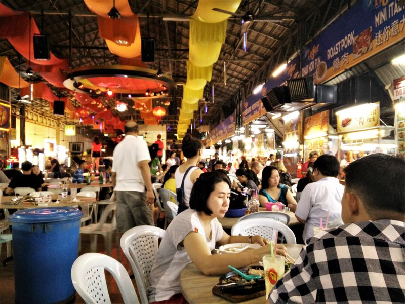 hawker center penang georgetown cf food court